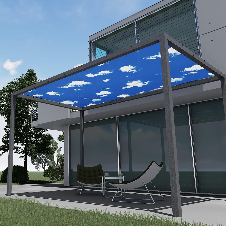 EK 2'x38' Waterproof Printed New mail Limited price order Sun Sail Straight Cloth Shade Edge