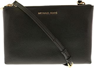 c9ae960136c4 Michael Kors Jet Set Travel Double Zip Gusset Signature Crossbody
