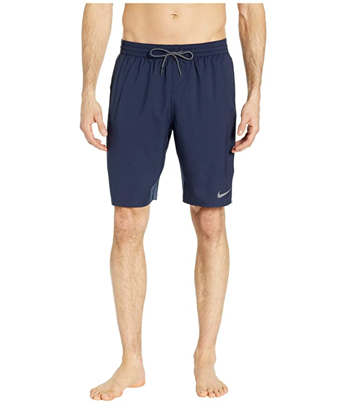 Nike 9 Logo Splice Racer Volley Shorts (Obsidian) Men