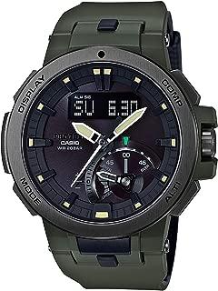 Casio Pro Trek Men's Ana-Digi Dial Resin Band Watch - Prw-7000-3Dr, Black Band