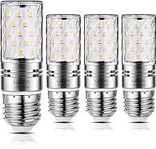 Yiizon 12W LED Corn Bulbs, Candelabra LED Light Bulbs, 6000K Daylight White, 1200LM, E26 Base, 100W Incandescent Equivalen...