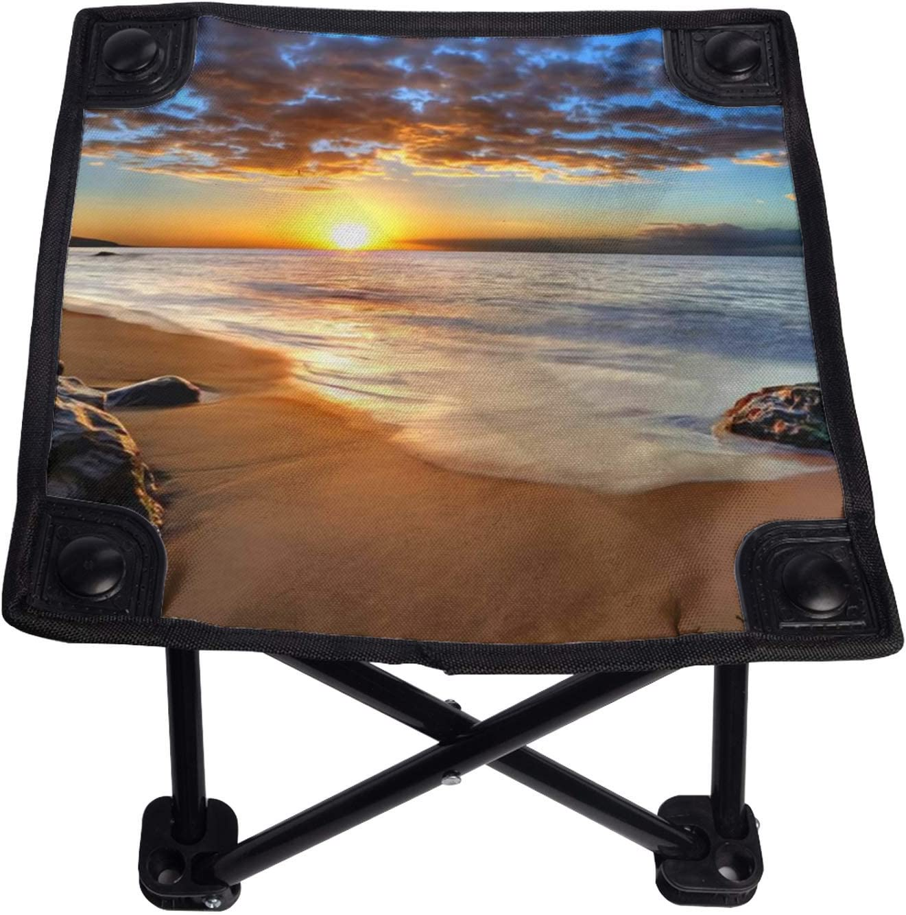 Camping Stool Beach Sunset Mini Chair for Daily bargain sale Folding Portable Great interest