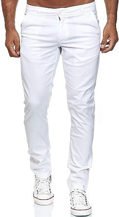 Elara Pantalón Chino Hombre Regular Slim Fit Elástico Chunkyrayan