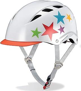 オージーケーカブト(OGK KABUTO) 自転車 ヘルメット 子ども用 CHAMP(チャンプ) レインボースターホワイト 児童用(50~54cm)