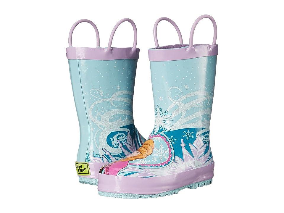 Western Chief Kids Frozen Elsa Anna Rain Boot (Toddler/Little Kid/Big Kid) (Blue) Girls Shoes