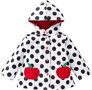 Little Kids Girls Waterproof Lightweight Floral Windbreaker Outwear Raincoat Hoodies