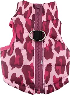 SMALLLEE_LUCKY_STORE Various Pet Cat Dog Soft Padded Vest Harness Jacket with Leash Loop Small Dog Clothes