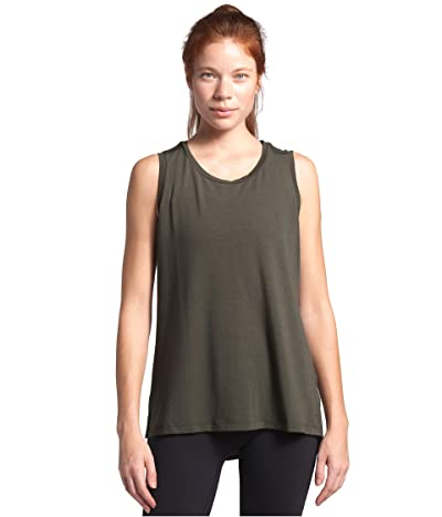 The North Face Workout Muscle Tank Top (New Taupe Green) Women