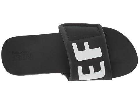 Slide Blanco Logo Bounce Cushion Negro Reef ZEwUBqq