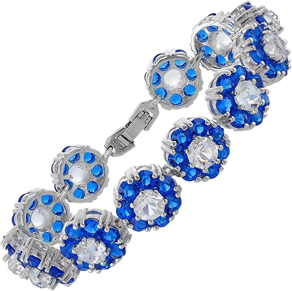 RIZILIA BLOSSOM A surprise price is realized Tennis Bracelet Round Colors CZ 5 availab Fashion Cut
