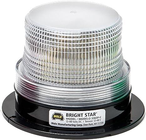 "Wolo 3350P-A Bright Star Series 3-5//7/"" Amber Lens 12-110 Volt Strobe Tube Light"