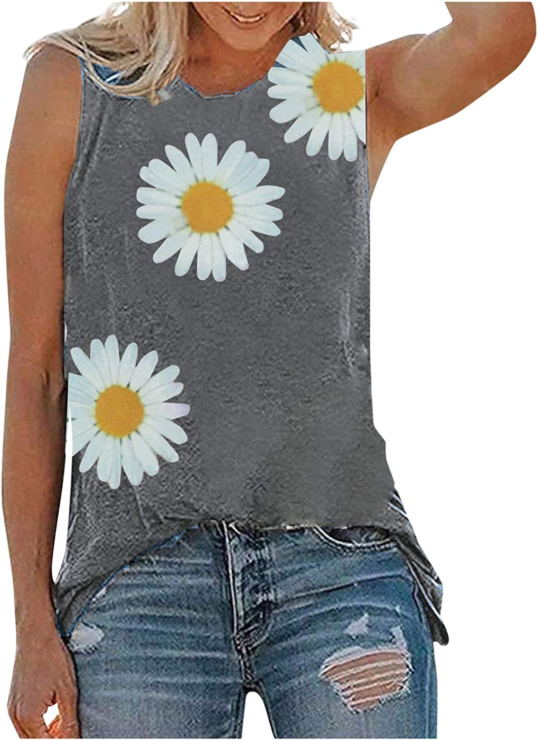 Crop Tops for Women Sexy Women Shirts Teen Girls Sleevelss Casual Summer Stripe Lace Up Cami Tank Tops Vest Blouse Gray