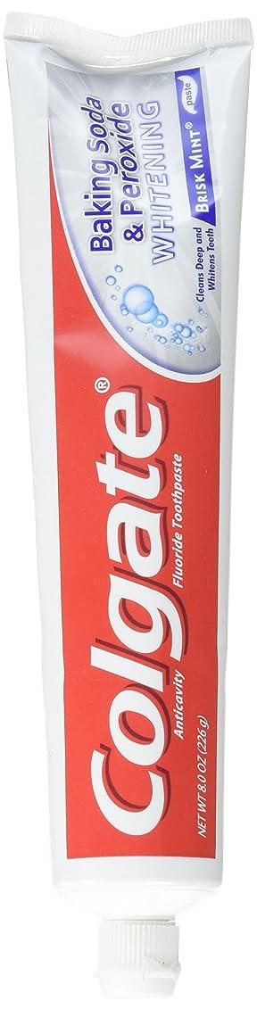 治安判事アクションヒールColgate 重曹と過酸化物ホワイトニングの歯磨き粉の泡、好調ミント、8オンス