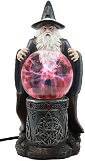 Ebros Merlin The Wizard Large Spellcaster Sorcerer Electric Plasma Ball Lamp Statue 13