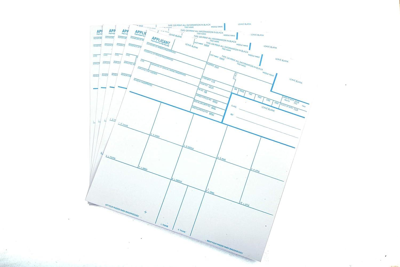 FBI 4 Set Fingerprint Cards Brand 安売り Model 新色追加 FBA_FD258-05