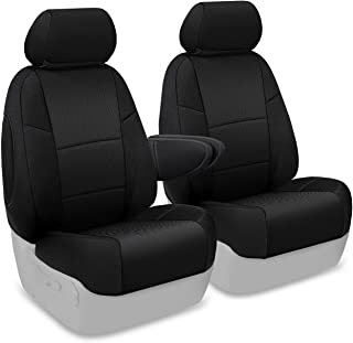 Coverking Custom Fit Front 50/50 Bucket Seat Cover for Select Dodge Sprinter 2500/3500 Models - Spacermesh Solid (Black)