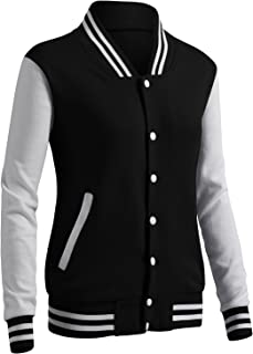 Women's Casual Jacket Baseball Button Jacket