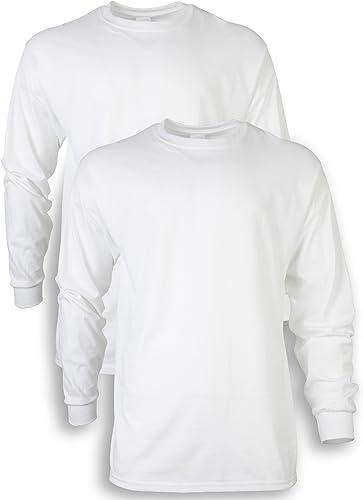 Gildan Men's Ultra Cotton Adult Long Sleeve T-Shirt, 2-Pack