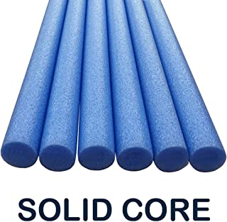 Oodles of Noodles Deluxe Solid Core Foam Pool Swim Noodles - 6 Pack 5 Foot