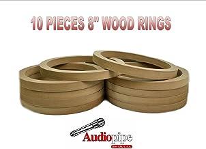 "Audiopipe 8"" INCH Speaker MOUNTING Spacer Rings for Fiberglass MDF RING-8R (10 Rings)"