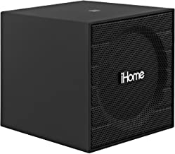Sound Design iHome Rubberized NFC Bluetooth Speaker with USB Charging/Aux In (Black)