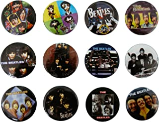 THE BEATLES (2) Awesome Quality Lot 12 New Pins Pinback Buttons Badge 1.25