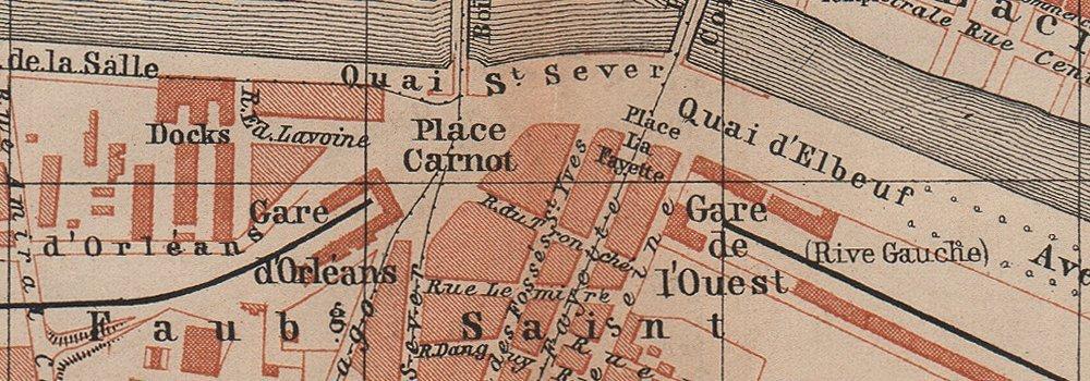 Amazon Com Rouen Antique Town City Plan De La Ville Seine Maritime Carte 1899 Old Map Antique Map Vintage Map Seine Maritime Map S Posters Prints