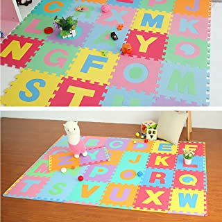 🎁 Letter mat, 36Pcs Alphabet Numbers EVA Floor Play Mat Baby Room ABC Foam Puzzle by Little Story