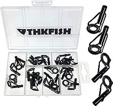 thkfish Rod Tip Repair Kit Rod Repair Kit Stainless Steel Ceramic Ring Guide Rod Repair Replacement Tip Tops Fishing Rod Repair kit 6Sizes 30pcs