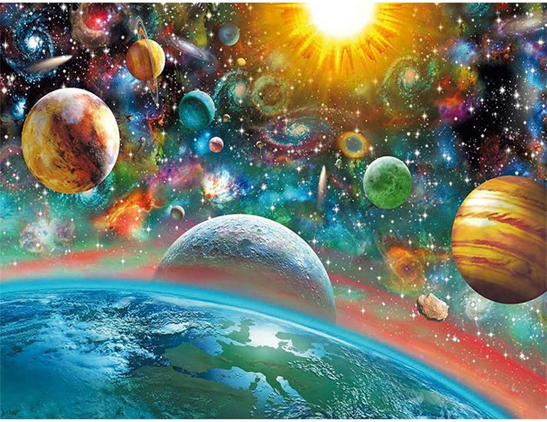precio razonable Bordado de cuerpo celestial celestial celestial Diamante Paisaje Mosaico Arte de la parojo Pintura de diamante Punto de Cruz Rhinestone Decoración para el hogar Diy,80X100cm  la mejor oferta de tienda online