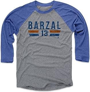 Mathew Barzal Baseball Shirt - New York Hockey Fan Gear - Mathew Barzal New York I Font