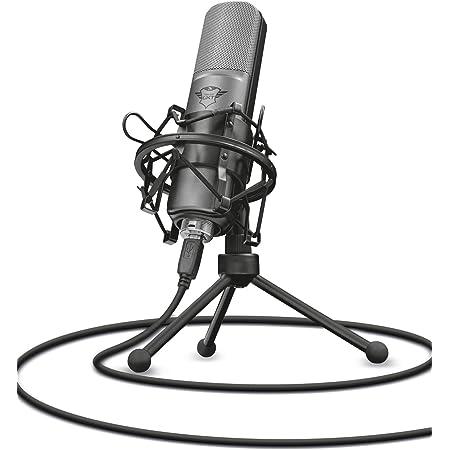 Trust Gaming GXT 242 Lance - Micrófono con trípode para streaming, PC, PS4, PS5 - Negro