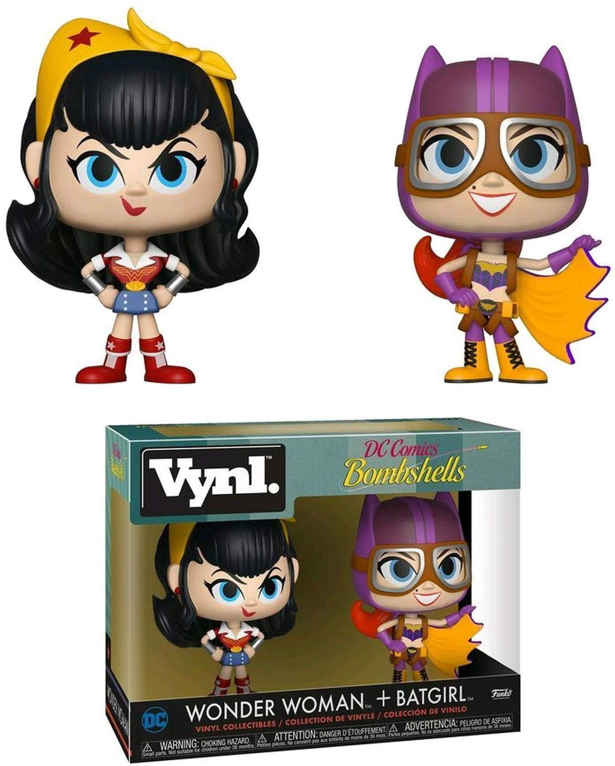 Pack de 2 Figurines Funko Vynl: Wonder Woman & Batgirl: Amazon.es: Juguetes y juegos