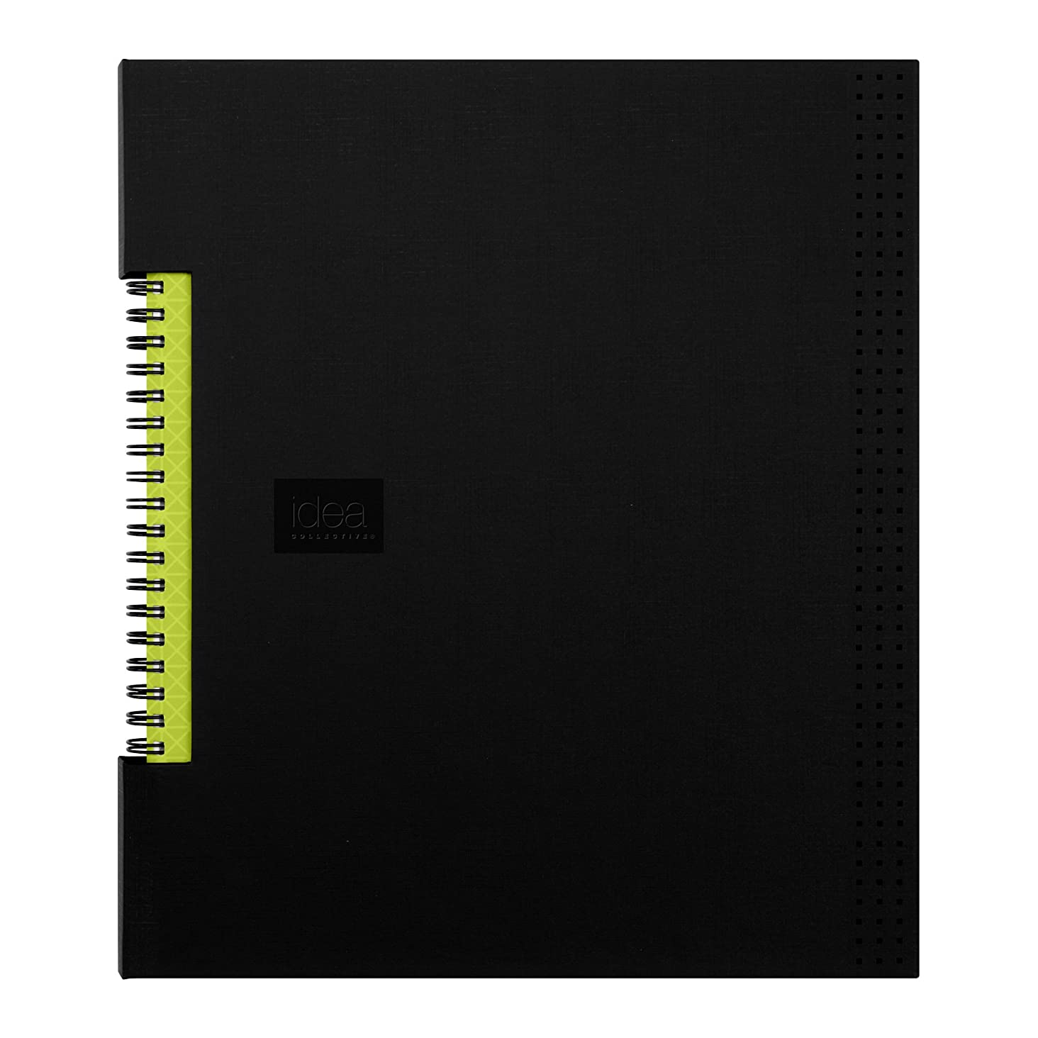 Oxford Idea Collective Business Notebook, 11 x 8.5, Double Wire, Case Bound, Black, 80 sheets (56895)