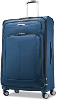 Samsonite Solyte DLX Softside Expandable Luggage with Spinner Wheels, Mediterranean Blue, Checked-Large 29-Inch