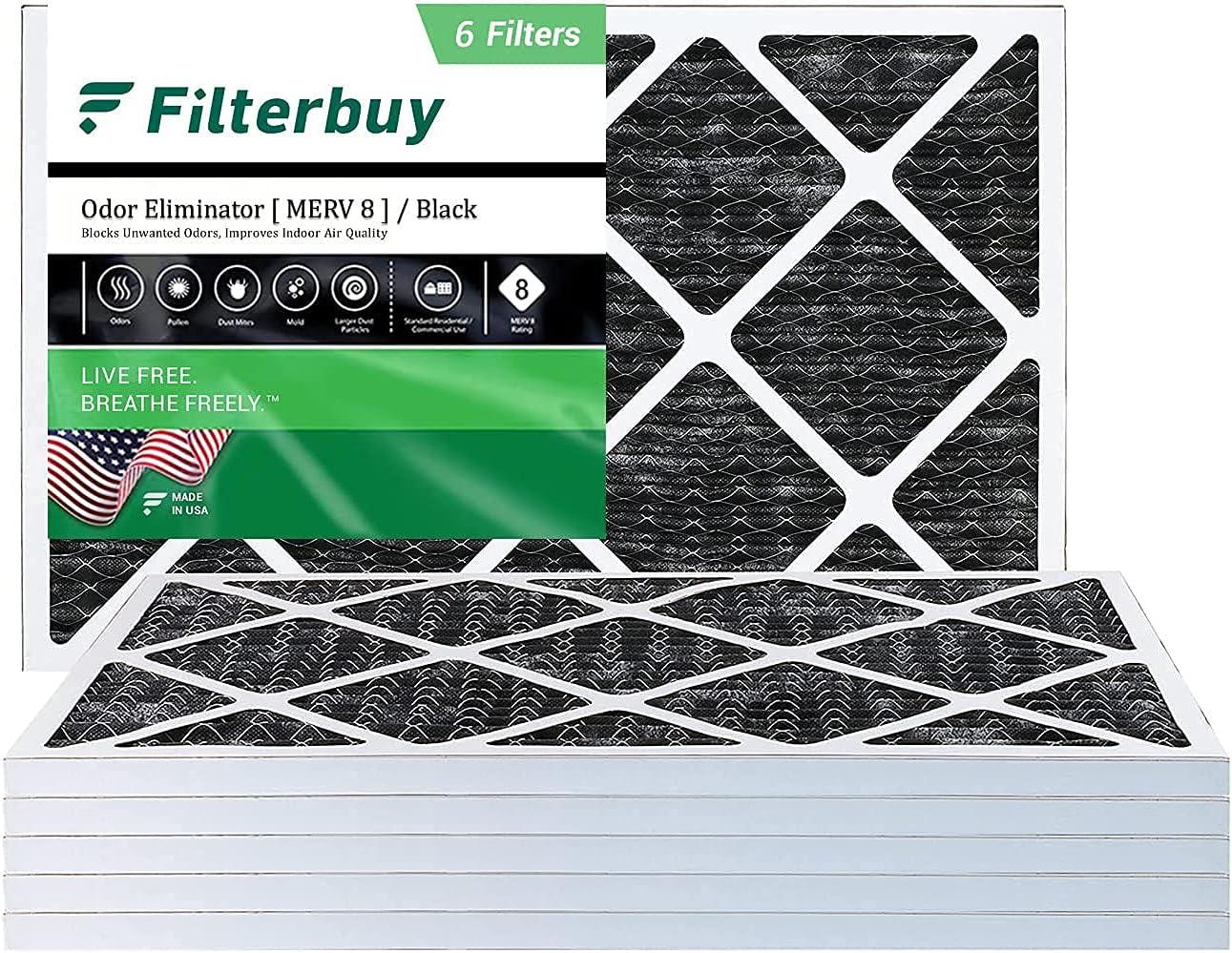 FilterBuy 14x25x1 National uniform free shipping Air Filter MERV Allergen Deluxe 8 Odor Eliminator