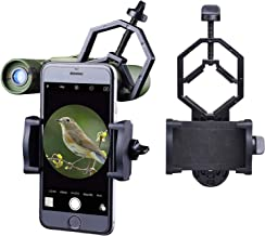 CUHAWUDBA Prism/áTicos Tr/íPode Adaptador Telescopio Clip de Soporte para y Android Tel/éFonos Inteligentes