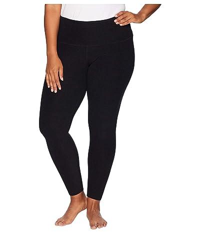 Beyond Yoga Plus Size High-Waisted Midi Leggings (Darkest Night) Women