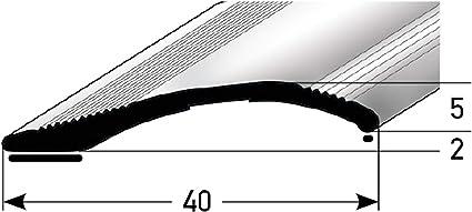 Alu-/Übergangsschiene,zum Klicken 7-10mm bronze dunkel * Rutschhemmend * Kratzfest Laminat /& Parkett /Übergangsleiste f/ür Teppich-Boden 100cm 2-teilig acerto 36940 /Übergangsprofil Aluminium