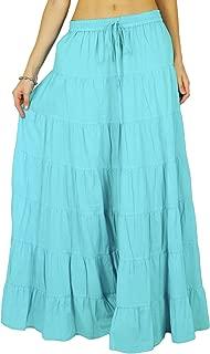 Phagun Skirt Long Maxi Skirt Beach Wear Cotton Summer Wear Clothing-14