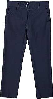 Armando Martillo Boys Flat Front Adjustable Husky Waist Slim Leg Dress Pants
