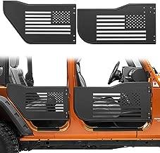 Danti Front & Rear Half Tube Door for 2007~2018 Jeep Wrangler JK Unlimited 4 Doors USA Flag Logo Tubular Door