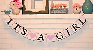 Its a Girl Chipboard Baby Shower Banner, Customizable It's a Girl Chipboard Banner, Baby Shower Decorations, Lavender