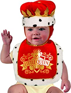 Forum Novelties Girls' Baby Costume Bib & Crown Set, Queen, One Size