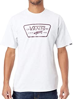 Vans Full Patch T-shirt For Men - White L (V00QN8RP7-Ash Heather-Port Royale)