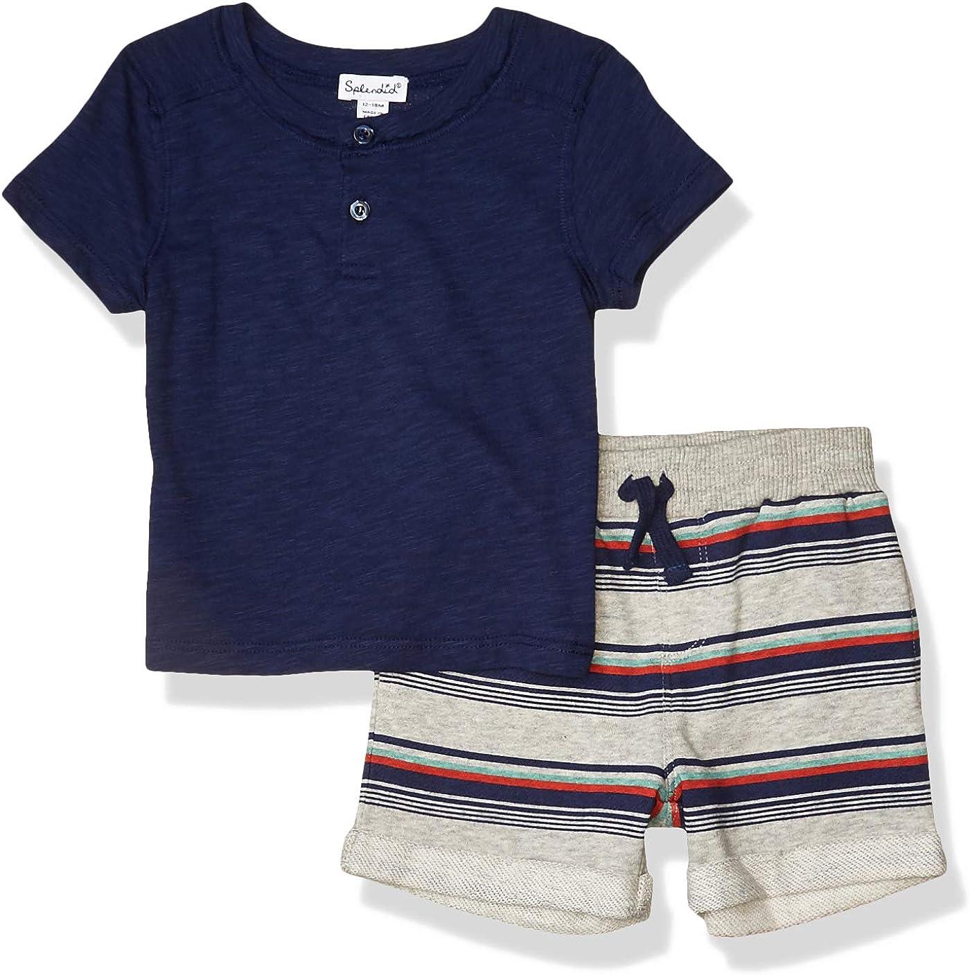 Splendid baby-boys Kids' Short Sleeve Short Set