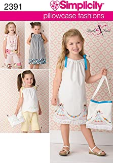 Simplicity Pillowcase Fashion Bag and Clothing Sewing Patterns for Girls, Sizes 3-8