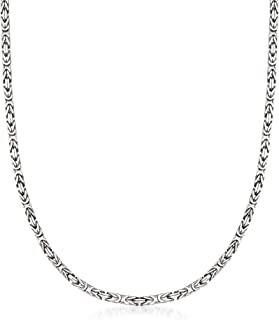 2.3mm Sterling Silver Byzantine Necklace