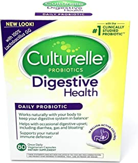 Culturelle Daily Probiotic, Digestive Health Capsules | Works Naturally with Your Body to Keep Digestive System in Balance* | with The Proven Effective Probiotic