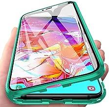 Orgstyle Funda para Samsung Galaxy A71, Absorción Magnética Cubierta Vidrio Frontal y Posterior Case Marco Metal Súper Delgada Protección de 360 Grados Caso para Samsung Galaxy A71, Verde
